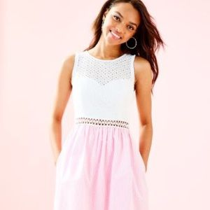 Lily Pulitzer sz 4- havana pink searsucker dress